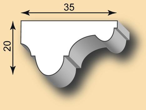 Muster Stuckleiste / Stuckprofil SL35-13