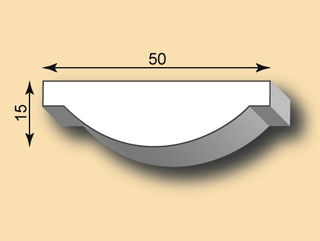 Stuckleiste / Stuckprofil SL50-06