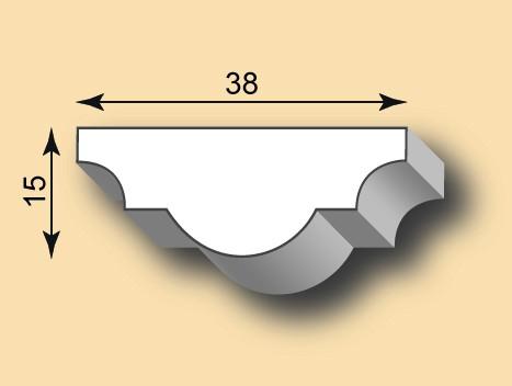 Muster Stuckleiste / Stuckprofil SL38-01