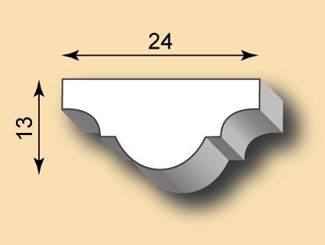 Muster Stuckleiste / Stuckprofil SL24-01