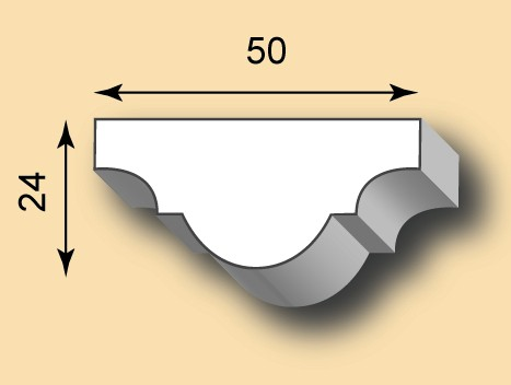 Muster Stuckleiste / Stuckprofil SL50-07