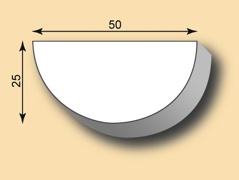 Muster Stuckleiste / Stuckprofil SL50-22