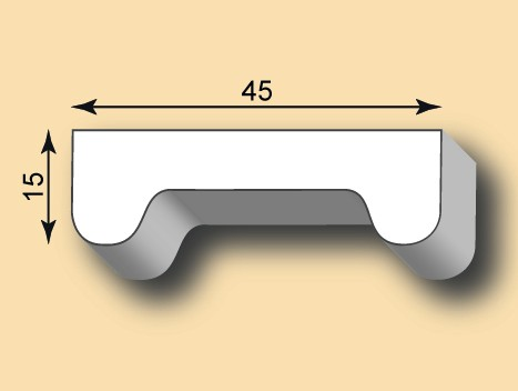 Muster Stuckleiste / Stuckprofil SL45-07