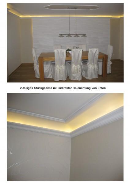 Stuckgesims-2-teilig-indirekte-Beleuchtung