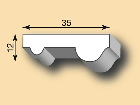 Muster Stuckleiste / Stuckprofil SL35-01