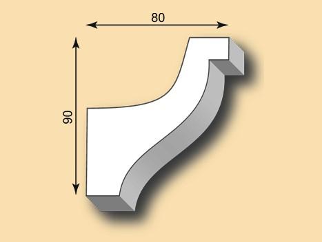 Muster Stuckgesims SG90-08