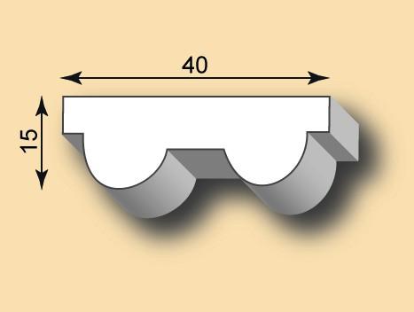 Stuckleiste / Stuckprofil SL40-15
