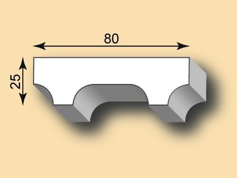 Stuckleiste / Stuckprofil SL80-10