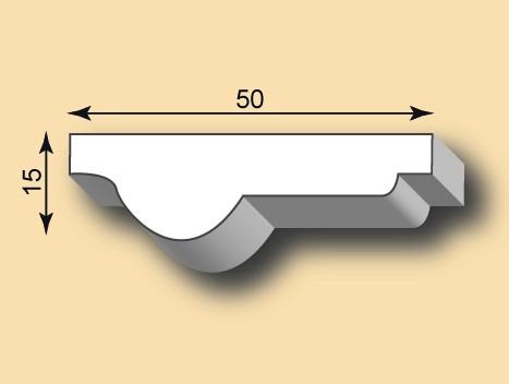 Stuckleiste / Stuckprofil SL50-02
