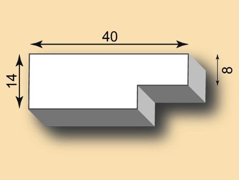 Stuckleiste / Stuckprofil SL40-45