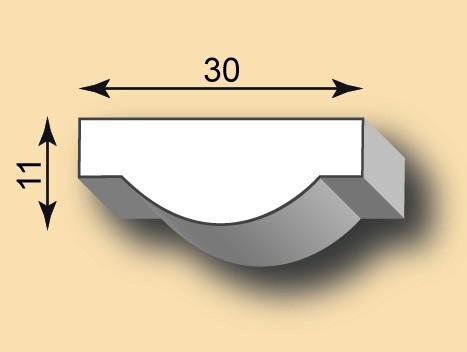 Muster Stuckleiste / Stuckprofil SL30-02