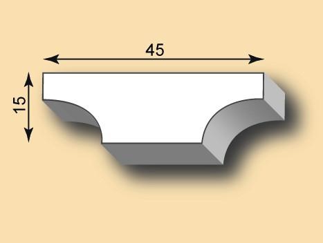 Stuckleiste / Stuckprofil SL45-13