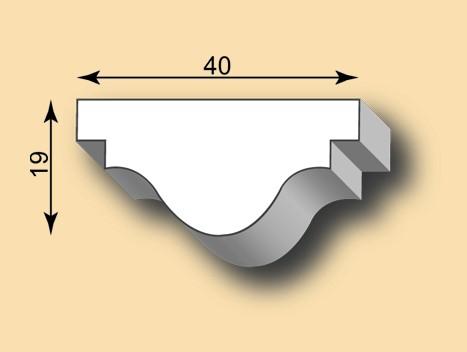 Muster Stuckleiste / Stuckprofil SL40-47
