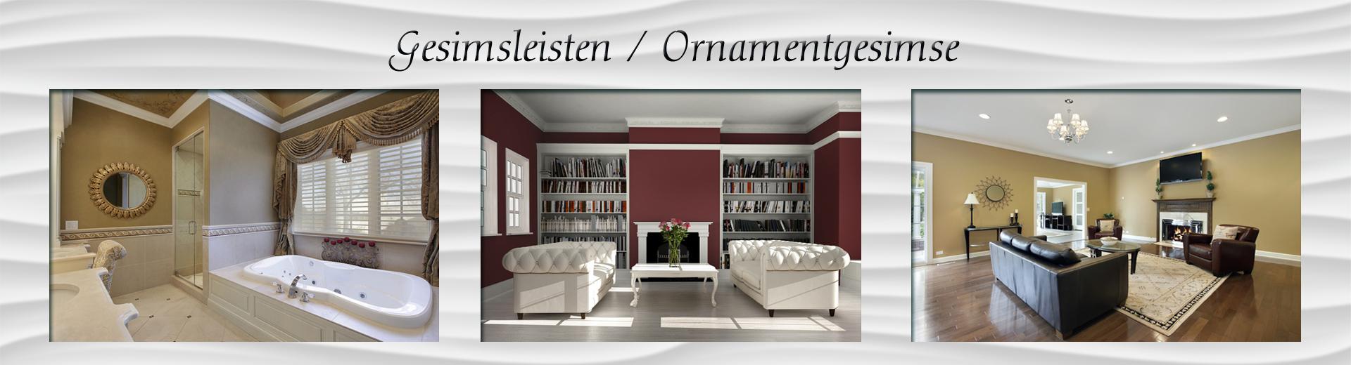 Gesimsleisten / Ornamentgesimse