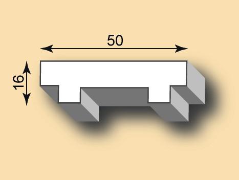Stuckleiste / Stuckprofil SL50-35