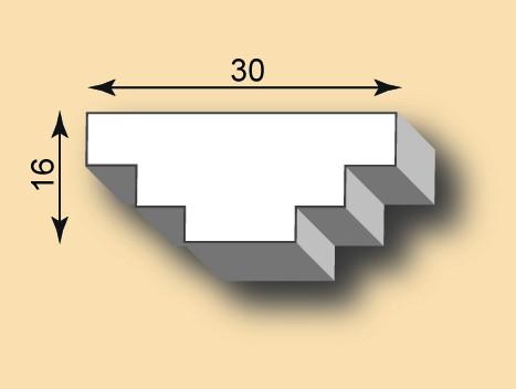 Muster Stuckleiste / Stuckprofil SL30-24