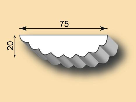 Stuckleiste / Stuckprofil SL75-02