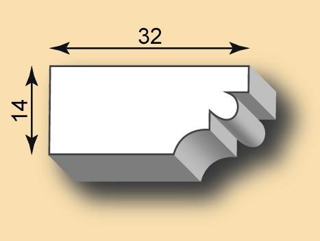 Muster Stuckleiste / Stuckprofil SL32-01