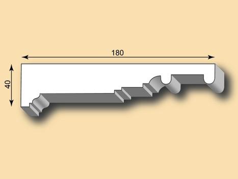 Stuckleiste / Stuckprofil SL180-01
