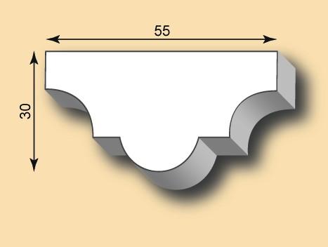 Stuckleiste / Stuckprofil SL55-02