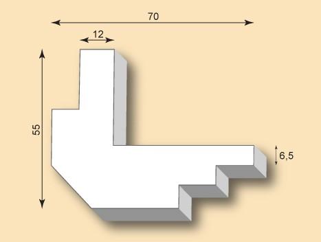 Muster Kantenprofil KP70-02