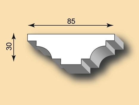 Stuckleiste / Stuckprofil SL85-01