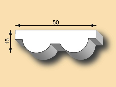 Muster Stuckleiste / Stuckprofil SL50-10