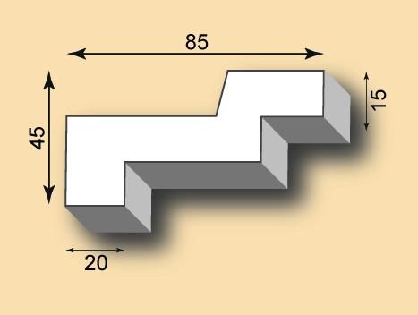 Stuckgesims SG85-03