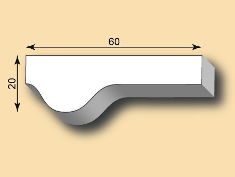 Stuckleiste / Stuckprofil SL60-01