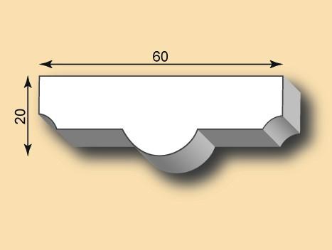Stuckleiste / Stuckprofil SL60-06