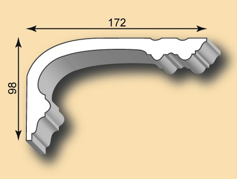 Stuckgesims SG172-02