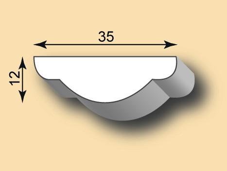 Muster Stuckleiste / Stuckprofil SL35-03