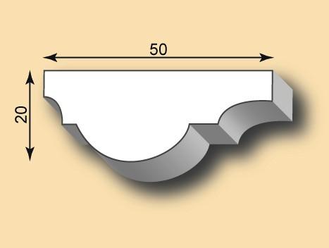 Muster Stuckleiste / Stuckprofil SL50-26