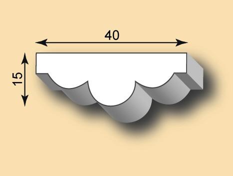 Muster Stuckleiste / Stuckprofil SL40-11
