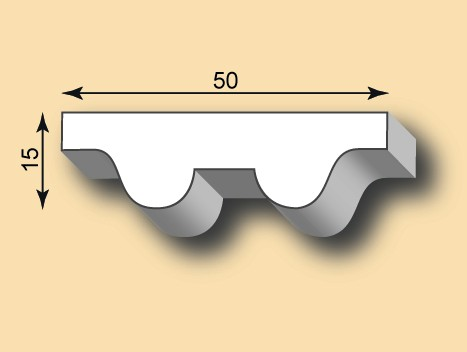 Stuckleiste / Stuckprofil SL50-11