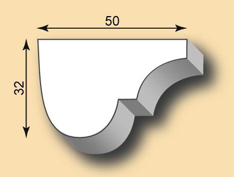 Stuckleiste / Stuckprofil SL50-27