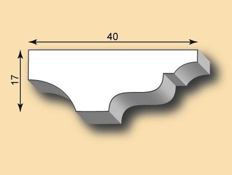 Stuckleiste / Stuckprofil SL40-35