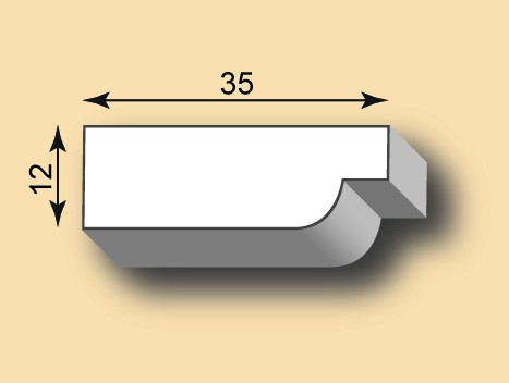 Muster Stuckleiste / Stuckprofil SL35-12