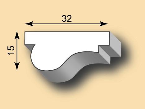 Muster Stuckleiste / Stuckprofil SL32-02
