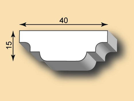 Muster Stuckleiste / Stuckprofil SL40-10
