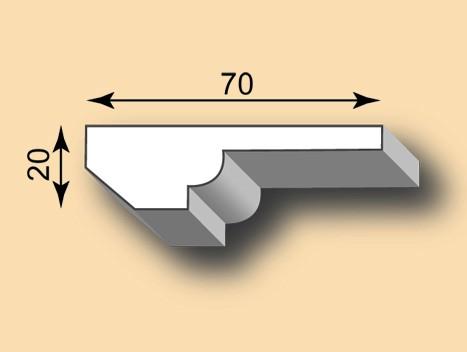 Muster Stuckleiste / Stuckprofil SL20-02