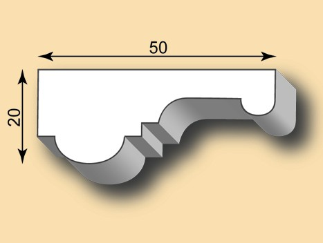 Muster Stuckleiste / Stuckprofil