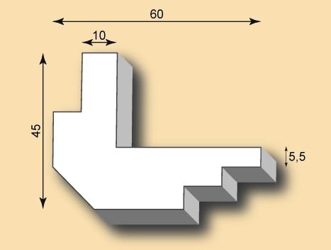 Muster Kantenprofil KP60-02