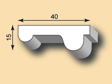 Muster Stuckleiste / Stuckprofil SL40-05