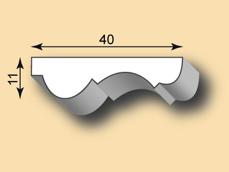 Muster Stuckleiste / Stuckprofil SL40-07