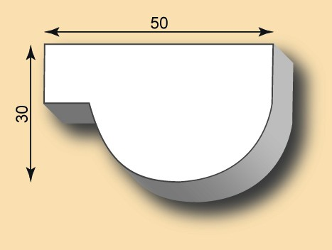 Muster Stuckleiste / Stuckprofil SL50-25