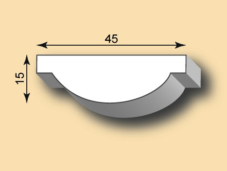 Muster Stuckleiste / Stuckprofil SL45-02