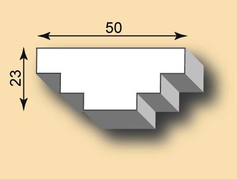 Stuckleiste / Stuckprofil SL50-37