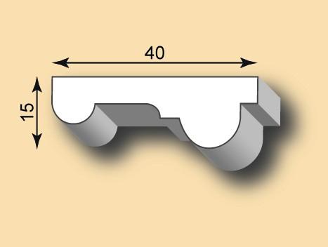 Stuckleiste / Stuckprofil SL40-02