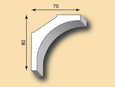 Muster Stuckgesims SG70-06